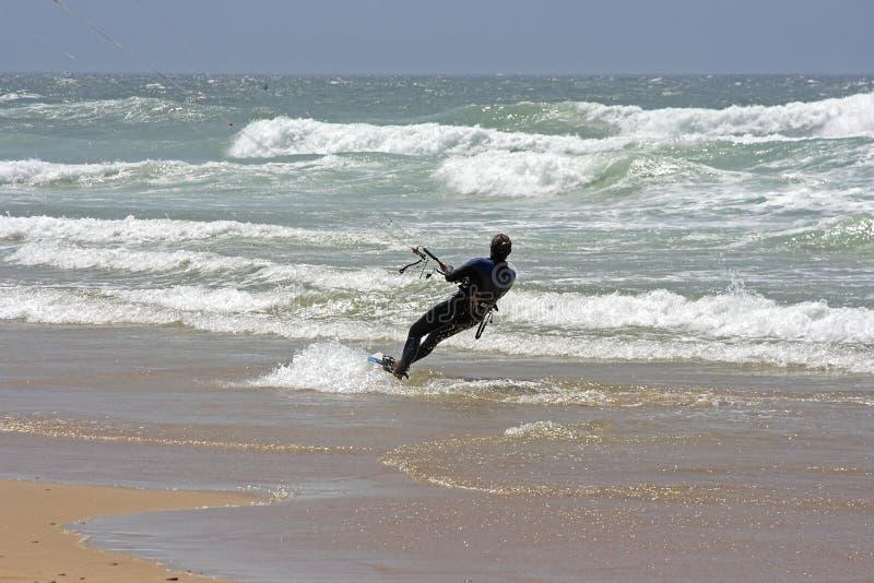 大西洋风筝冲浪 免版税图库摄影