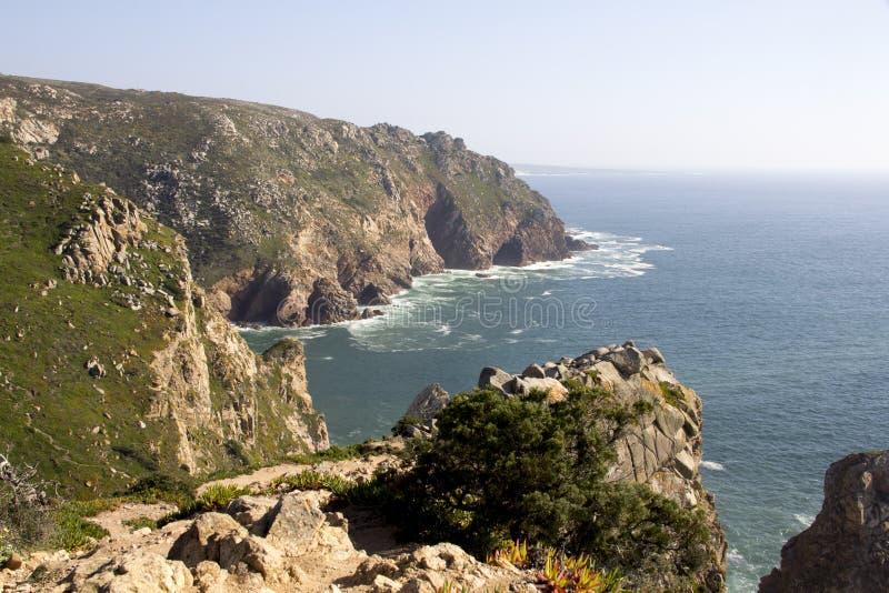 大西洋和岩石 免版税图库摄影