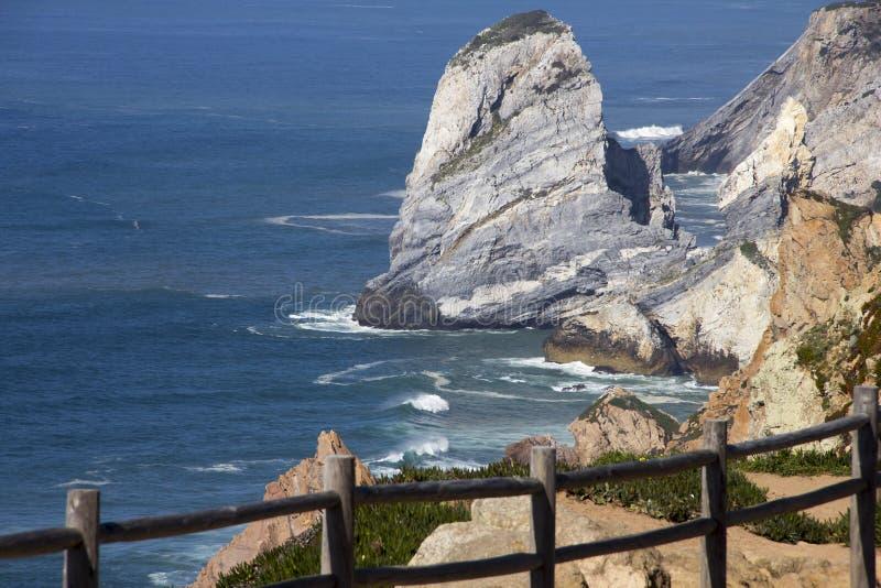 大西洋和岩石 图库摄影