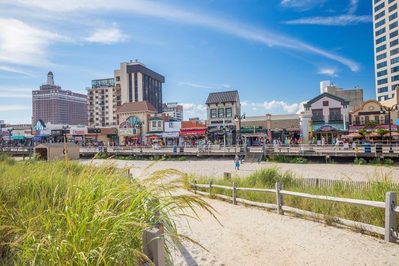 大西洋城,新泽西 库存图片