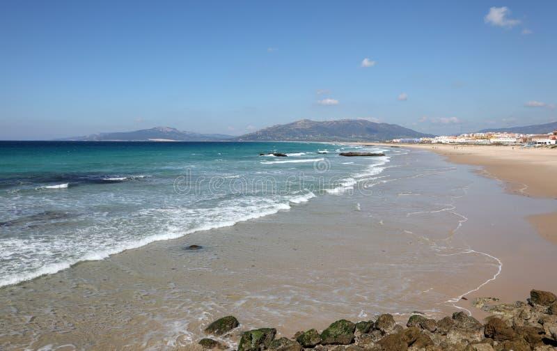 大西洋海岸海滩在西班牙 库存图片