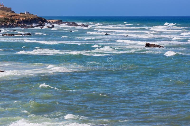 大西洋视图在Asilah,摩洛哥 库存照片