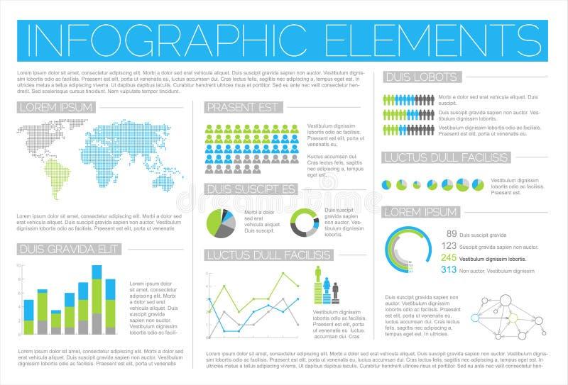 大要素infographic集向量 库存例证