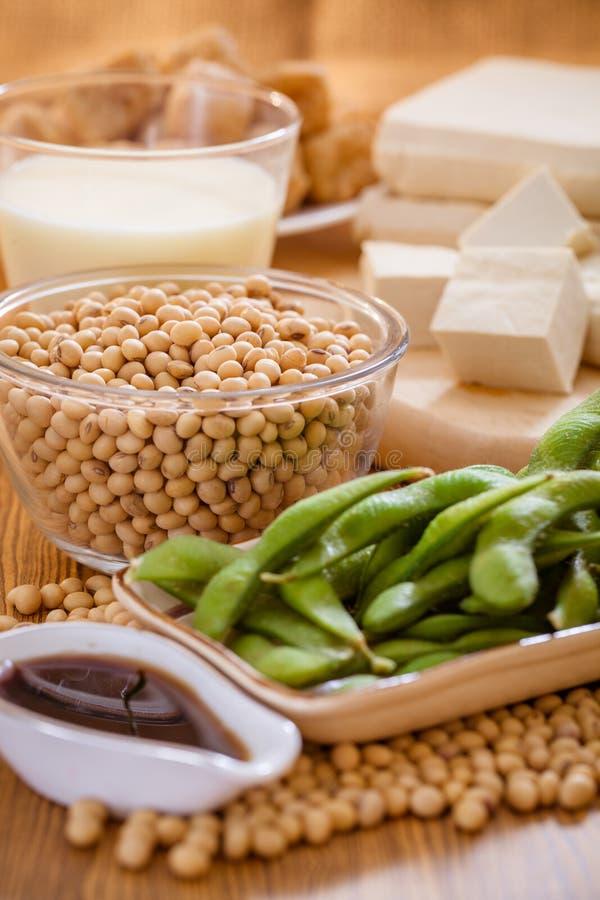 大豆产品健康食物 免版税库存图片