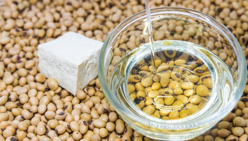 从大豆和鸡蛋的蛋白质 库存照片