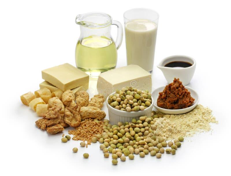 大豆豆产品,日本健康食物 图库摄影