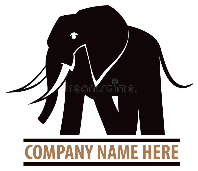 大象商标 皇族释放例证
