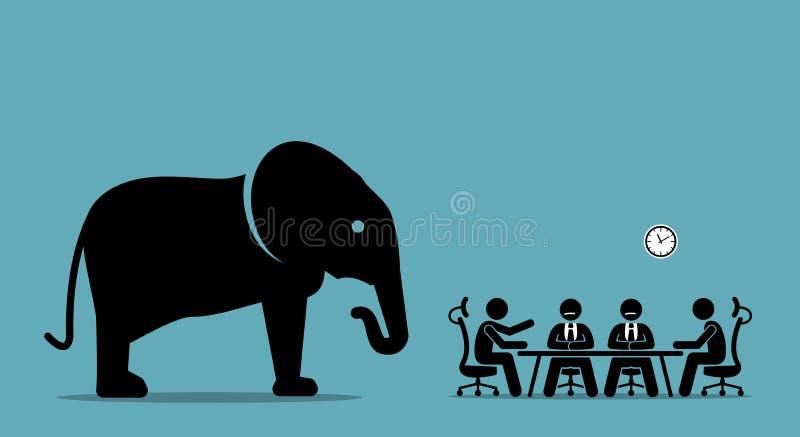 大象在屋子里 向量例证
