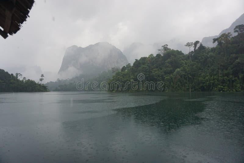 大象在晁Lan水坝 库存照片
