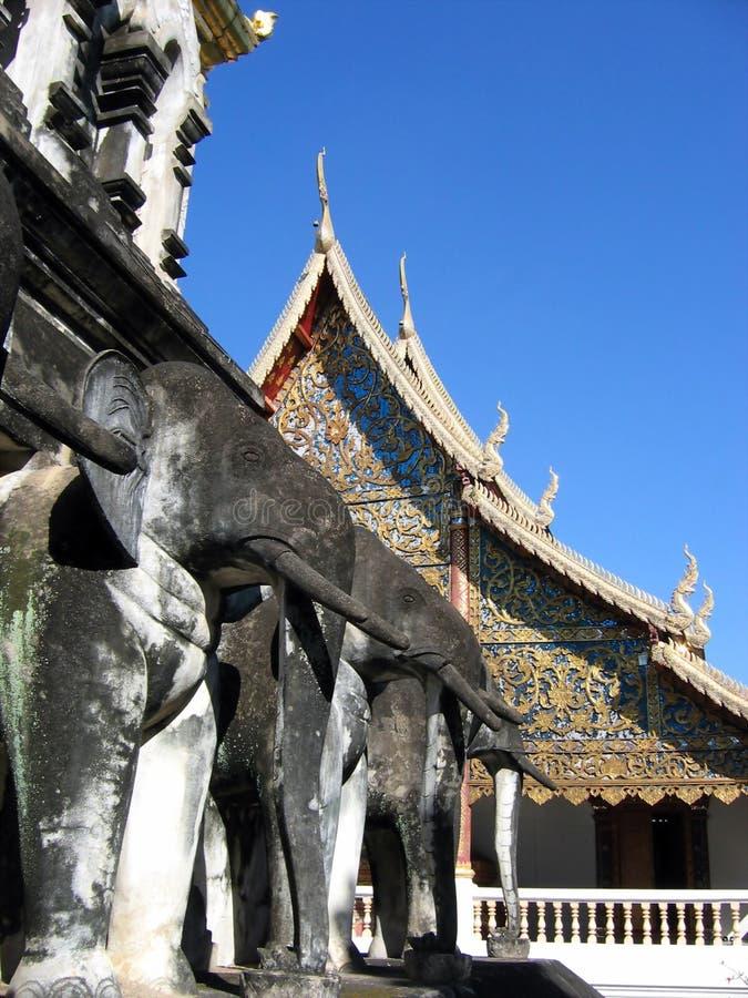 大象寺庙 免版税图库摄影