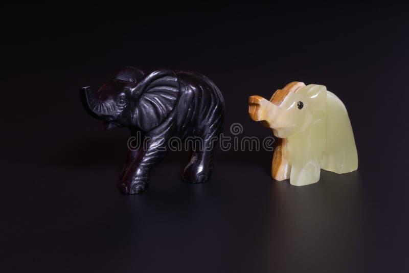 大象小雕象 免版税库存照片