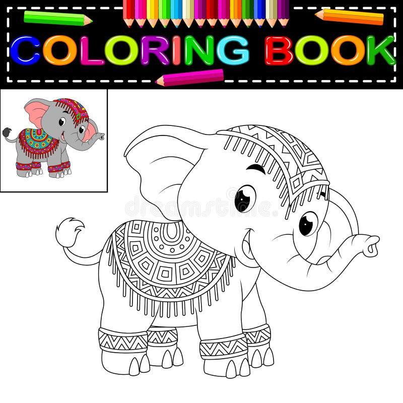 大象彩图 皇族释放例证