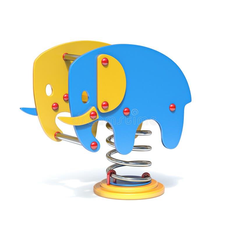 大象春天摇摆3D 向量例证