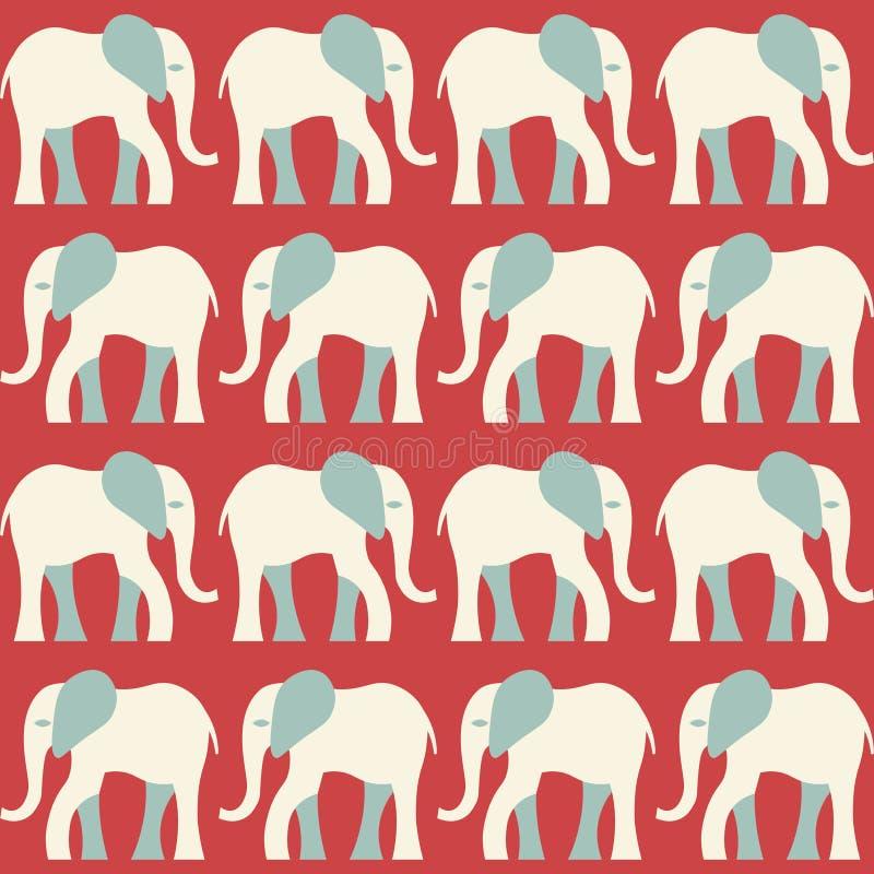 大象样式 皇族释放例证