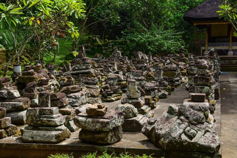 大象洞寺庙在巴厘岛,印度尼西亚 库存照片