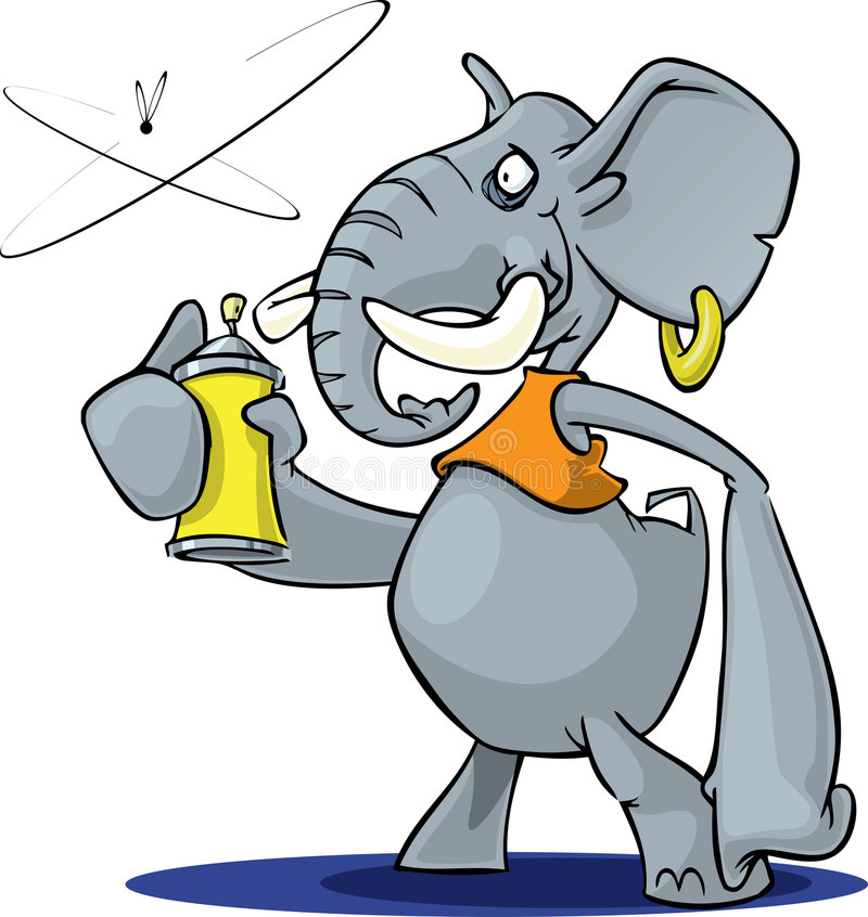 大象浪花 库存例证