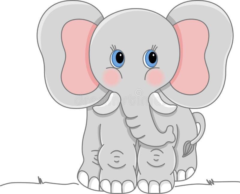 大象灰色 向量例证