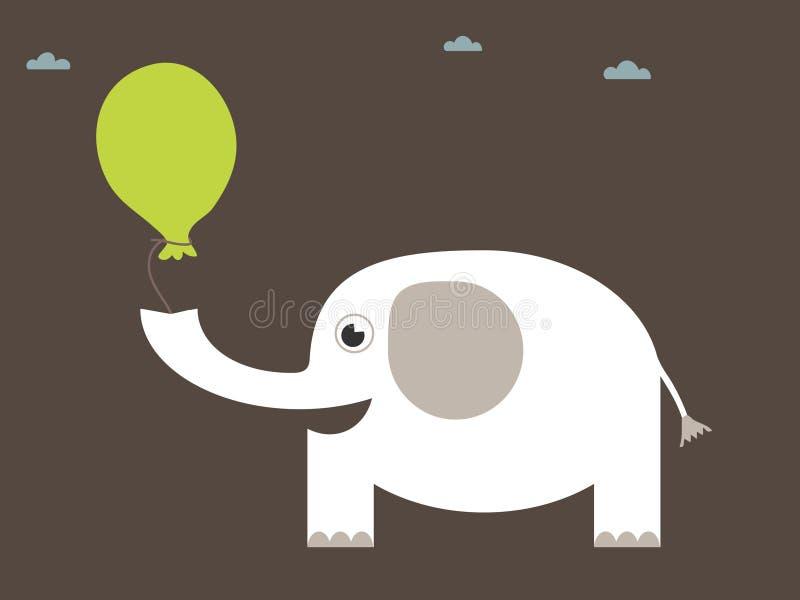 大象白色 向量例证