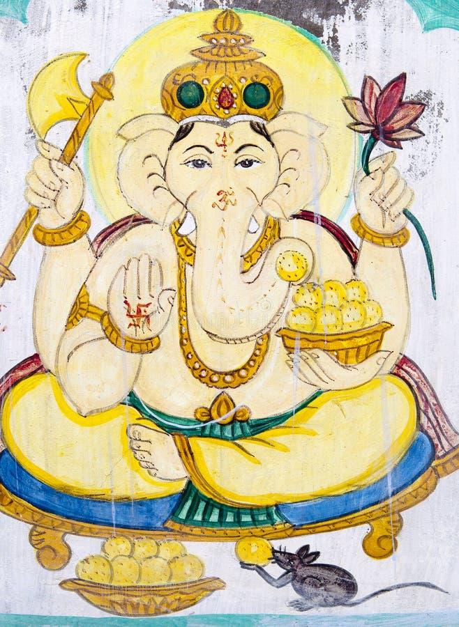 大象神朝向印度 库存照片