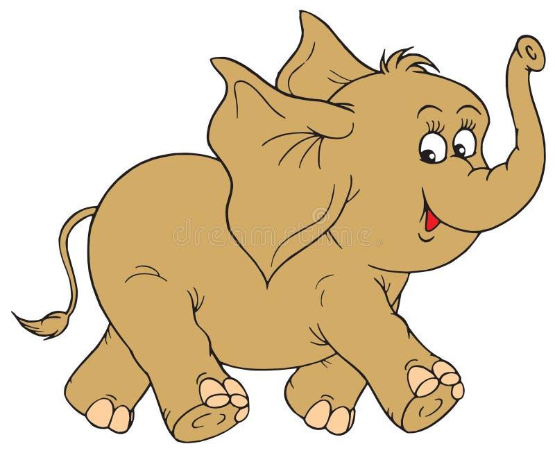 大象(向量夹子艺术) 库存例证