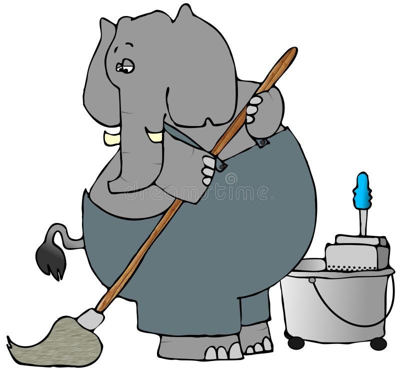 大象mopper 库存例证