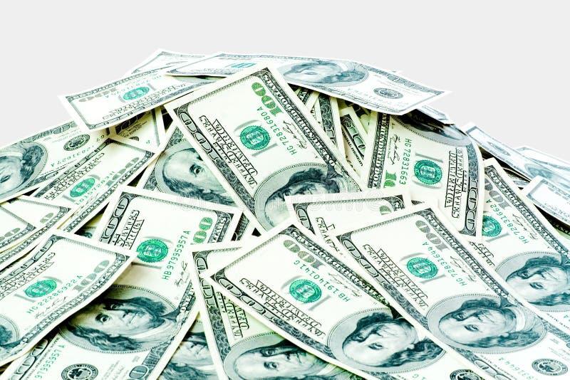 大货币堆 免版税库存照片