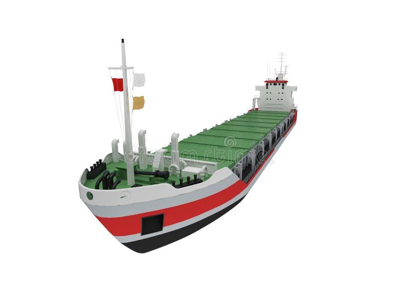 大货物前面查出的船视图 皇族释放例证