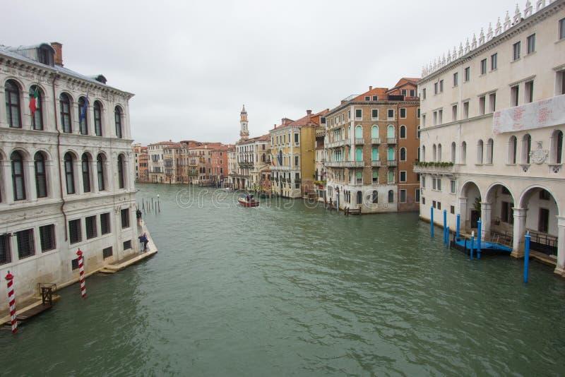 大运河的看法在威尼斯 库存图片