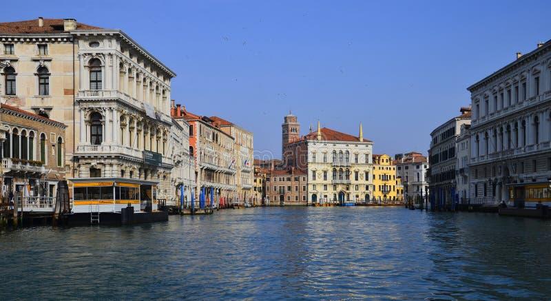 大运河风景在古色古香的威尼斯 免版税库存照片