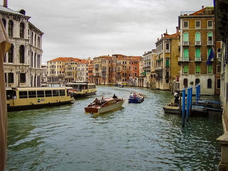 大运河,威尼斯,意大利主要水路  免版税库存图片