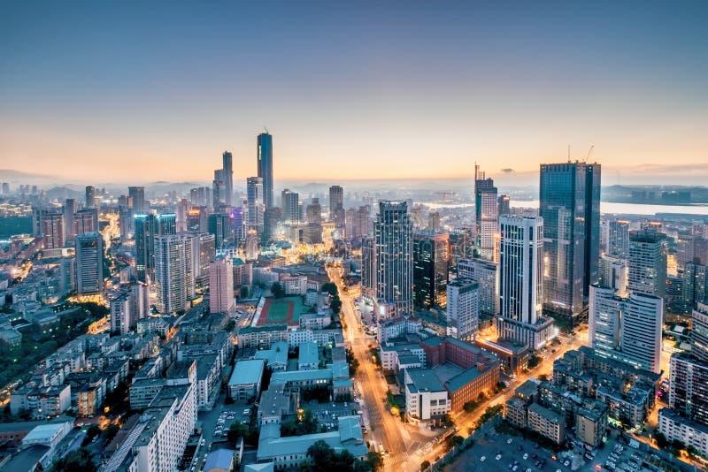 大连市,辽宁,中国夜风景 免版税库存图片