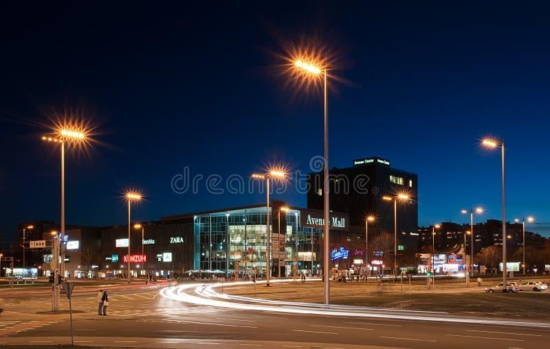 大道克罗地亚购物中心购物萨格勒布 库存图片