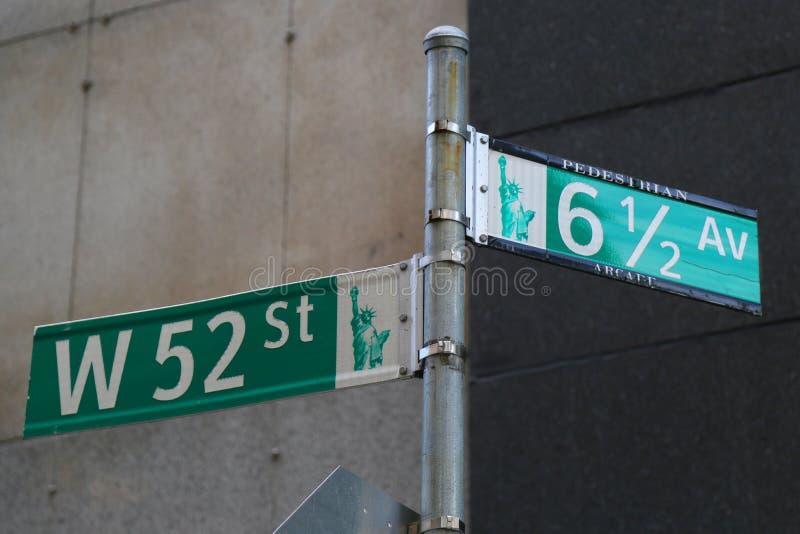 6 1/2大道步行通道在曼哈顿中城 库存照片