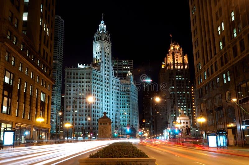 大道芝加哥密执安 免版税图库摄影