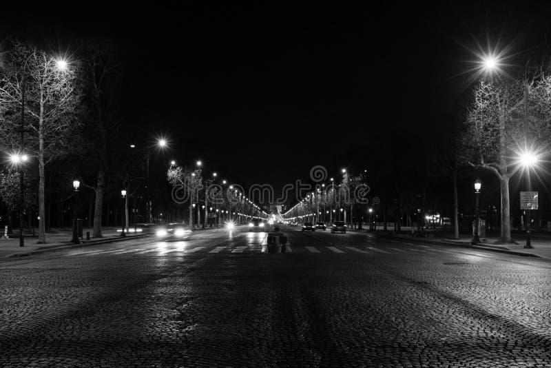 大道des冠军à ‰ lysées,巴黎,法国 免版税库存照片