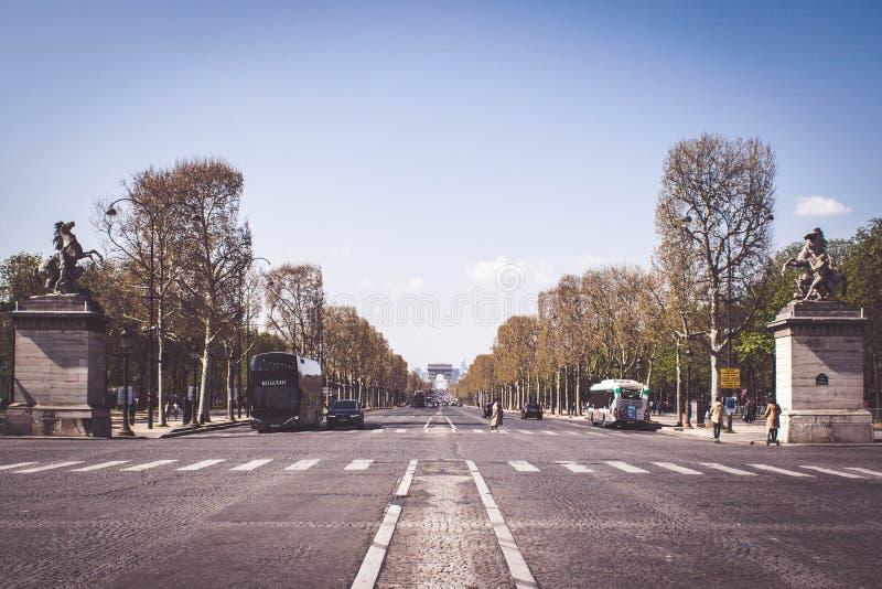 大道des冠军à ‰ lysées,巴黎,法国 图库摄影
