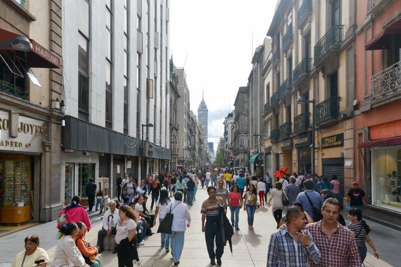大道Madero在墨西哥城 库存图片