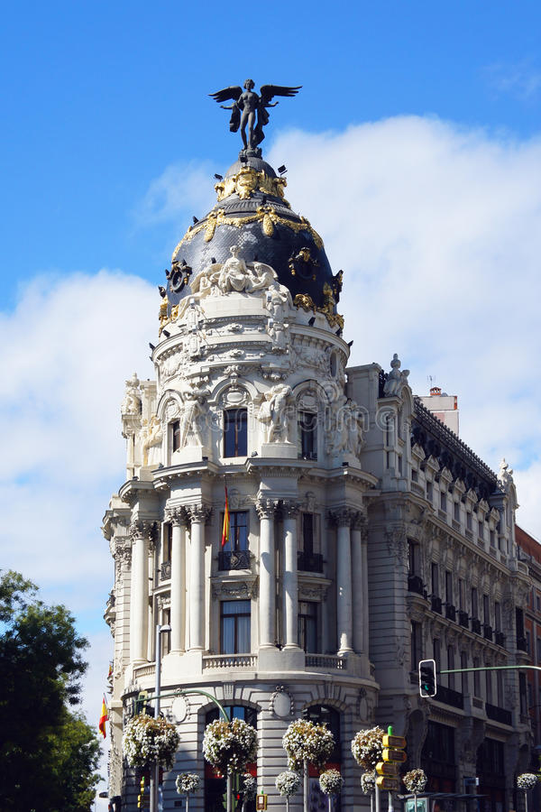 大都会大厦在马德里 库存照片