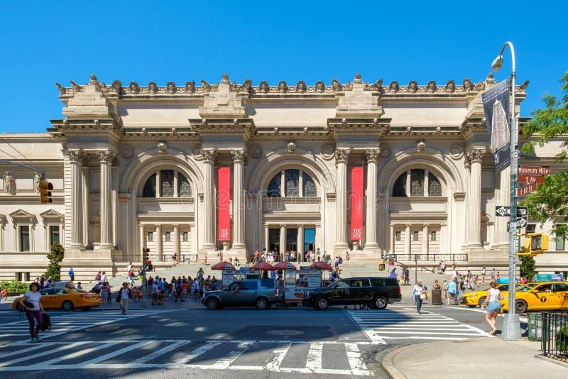 大都会艺术博物馆在纽约 库存照片
