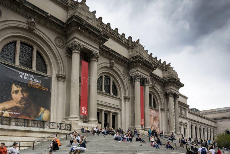 大都会艺术博物馆在纽约 图库摄影