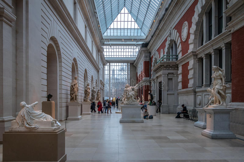 大都会艺术博物馆-纽约,美国 图库摄影