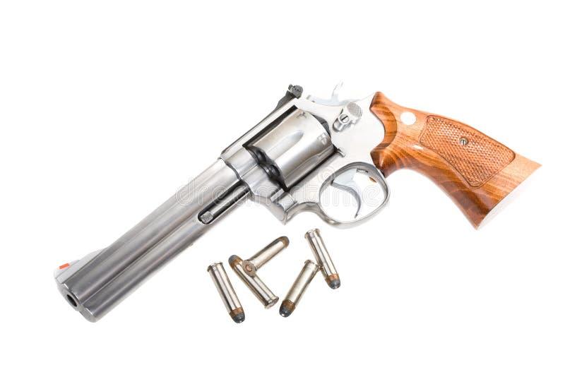 大酒瓶左轮手枪 免版税库存图片