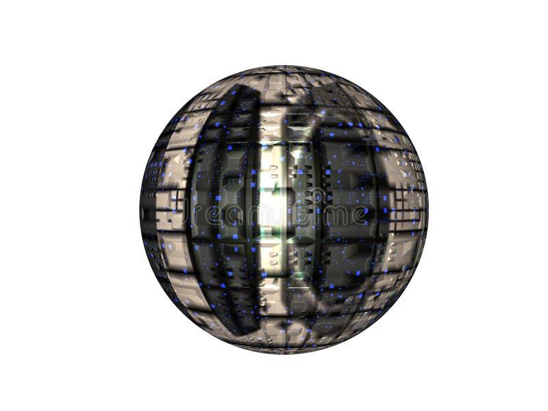 大量卫星 库存例证