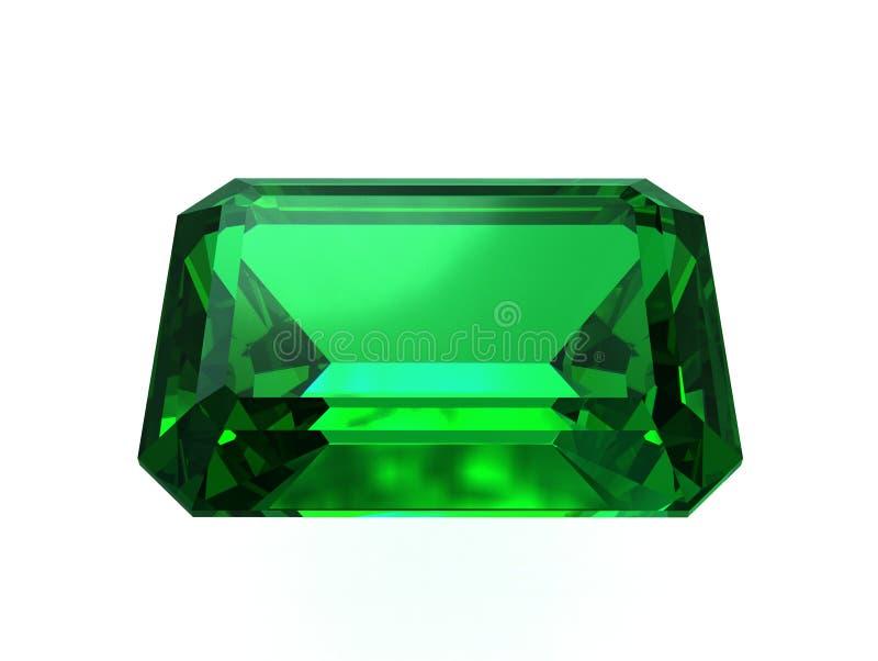 大量哥伦比亚的鲜绿色的宝石 库存例证