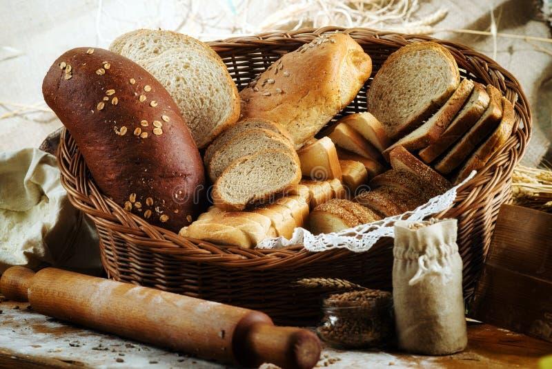 大量被切的面包背景 面包店和杂货概念 f 库存图片