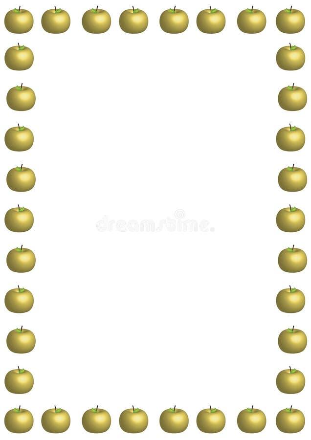 大金黄Apple边界 免版税库存照片