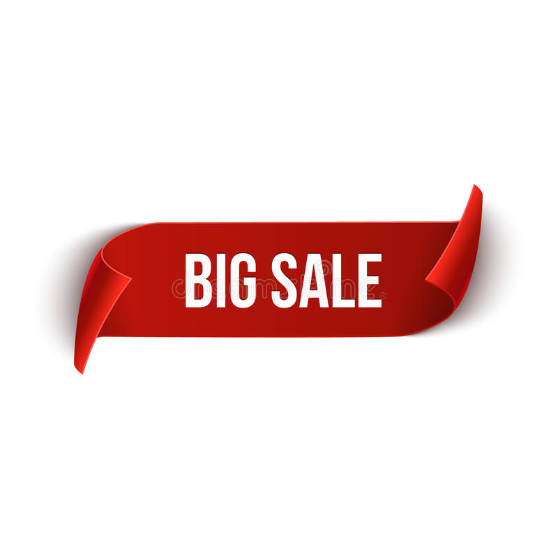大销售传染媒介丝带设计模板 横幅销售标记 市场特价优待折扣标签 向量例证
