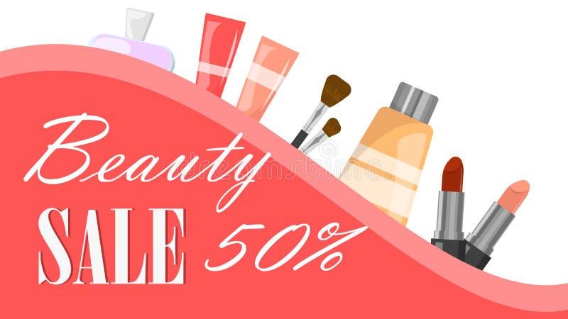 大销售网横幅 时尚和美容品 库存例证