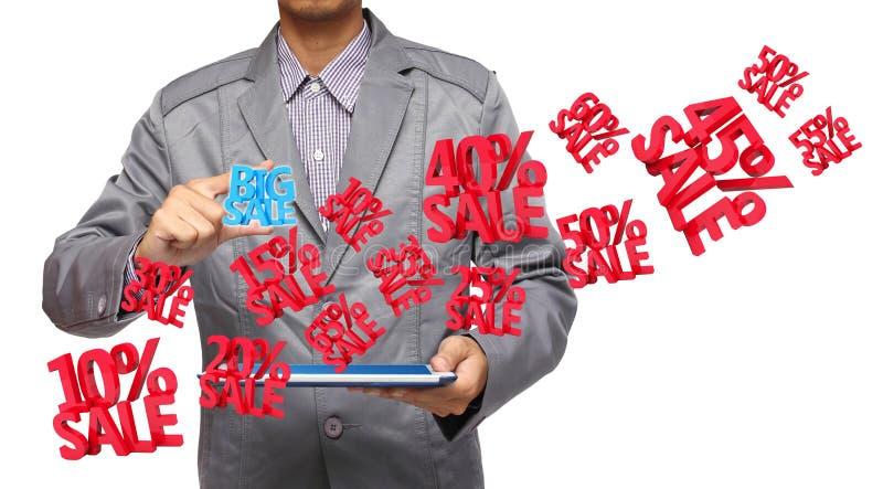 大销售额3d手中藏品触摸板个人计算机 向量例证