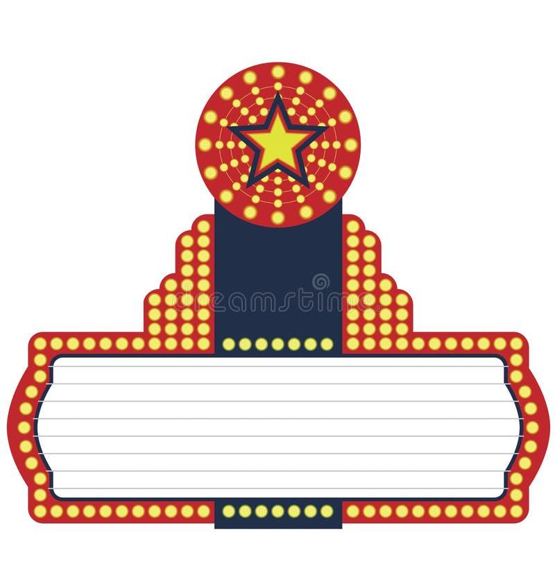 大门罩电影明星 向量例证